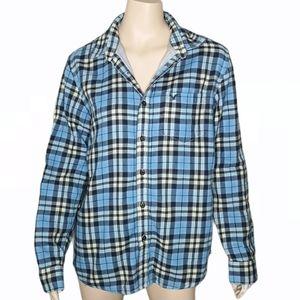 American Eagle Plaid Tartan Lined Flannel Shirt